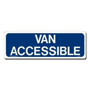 Lynch Sign 12 in. x 4 in. Blue on White Aluminum Van Accessible Sign HP  5MT