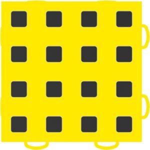 WeatherTech TechFloor 6 in. x 6 in. Yellow/Black Vinyl Flooring Tiles (Quantity of 10) 51T66 YL BK