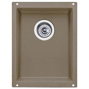 Blanco Precis Undermount Composite 13.37x18x7.5 0 Hole Single Bowl Kitchen Sink in Truffle 517676