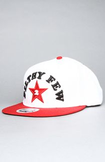 TRUKFIT The Filthy Few Snapback Cap in White Red
