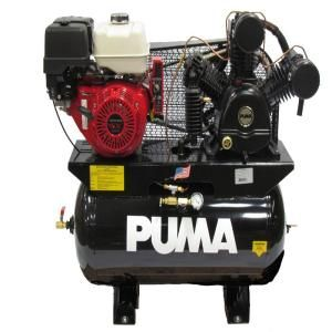 Puma Black 30 Gal. 13 HP Gas Engine with Electric Start 2 Stage Air Compressor TUK 13030HGE