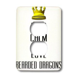 lsp_120943_6 Blonde Designs Gold Crown For Keep Calm Love Animals   Gold Crown Keep Calm And Love Bearded Dragons   Light Switch Covers   2 plug outlet cover   Electrical Outlet Covers