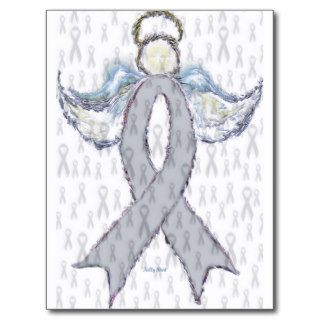 Angel Brain Cancer Ribbon Postcards