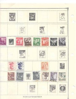Czechoslovakia 4 pages on Scott stamp album used collectible stamps  Collectible Postage Stamps