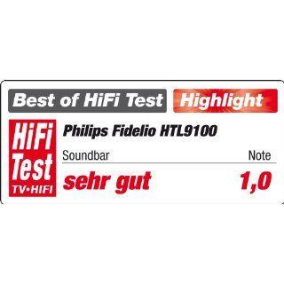 Philips HTL9100/12 Fidelio SoundBar Wireless Lautsprecher, Surround Sound on Demand (210 Watt RMS, 2x HDMI, Dolby Digital 5.1), schwarz Heimkino, TV & Video