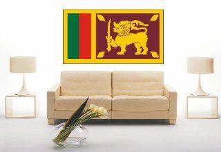 WANDTATTOO ls163 Sri Lanka   Sri Lanka 120 cm farbig / bunt als Fahne: Küche & Haushalt