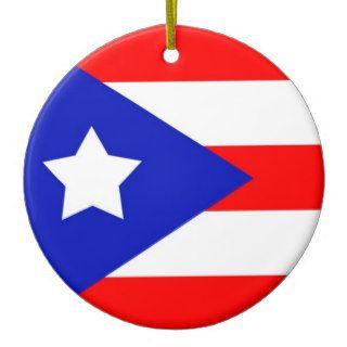 Ornamento puertorriqueño de la bandera adornos de navidad de