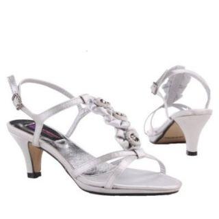 Damen Schuhe, PUMPS, SANDALETTEN, 168 16, Satin, Silber, Gr 41 Schuhe & Handtaschen