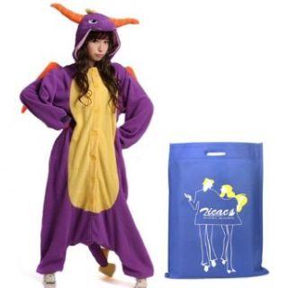 Zicac Kostüm Drache Dragon Tier Cosplay für Kinder und Erwachsene Pyjamas Pyjamas Nachtwäsche Schlafanzug cosplay kostüme: Bekleidung
