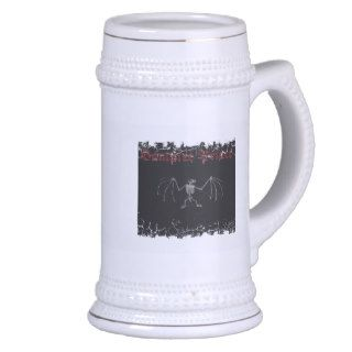 vampire prince w/bat Distressed Border Stein Mug