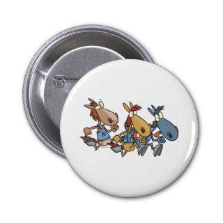 funny horse racing cartoon pin