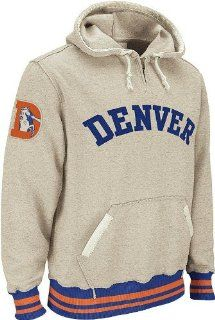 Denver Broncos Reebok Vintage Ash 1/4 Zip Throwback Hooded Sweatshirt  Sports Related Merchandise  Sports & Outdoors