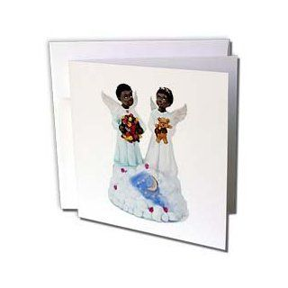 gc_1069_1 Angels   African American angels   Greeting Cards 6 Greeting Cards with envelopes  Blank Greeting Cards