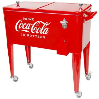 Coca Cola Rolling Red Ice Box Cooler DeNovo Coolers & Jugs