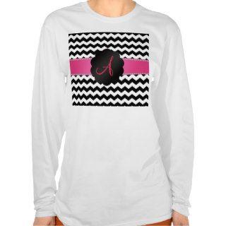 Monogram black and white chevrons tee shirts
