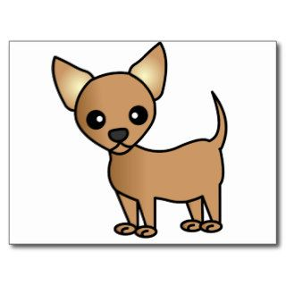 Cute Cartoon Chihuahua Postcards