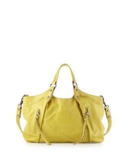 Chloe Leather Satchel, Citron   Kooba