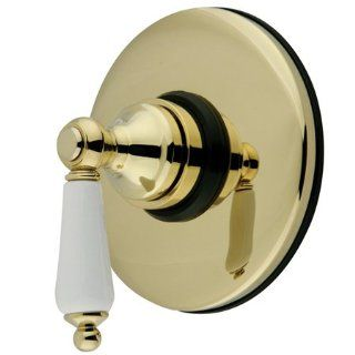 Kingston Brass KB3002PL Volume Control, Polished Brass   Series Vintage, Volume Control, Finish Polished Brass, StylePorcelain Lever, lbs 2.81, Material Brass, Num of Handles 1, Sub Type Volume Control, Type Showers   Shower Dispensers