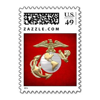 USMC Eagle, Globe & Anchor (EGA) [3D] Postage