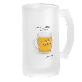 novelty beer monster glass stein mug