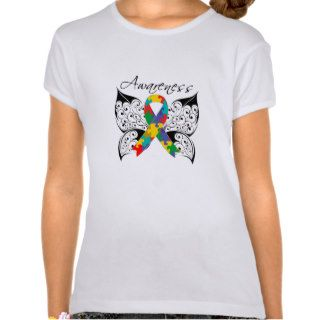 Tattoo Butterfly Awareness   Autism T shirts