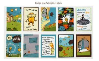 The Lorax Earth Panel Dr. Seuss Fabric (By Panel) ADE 11835 169 EARTH