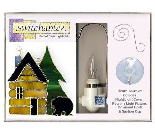 Switchables   SW153K   Black Bear Cabin   Stained Glass Night Light Kit: Everything Else