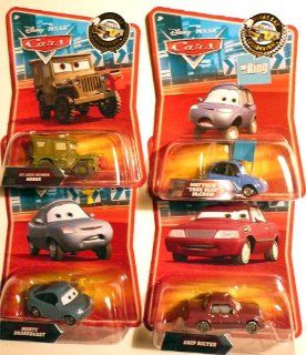 "Mattel Disney Pixar Cars 155 Rare Final Lap ""At the Track"" Bundle of 4   Pit Crew Sarge, Matthew True Blue McCrew, Marty Brakeburst & Skip Ricter: Toys & Games"