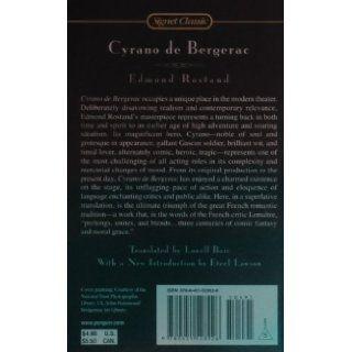 Cyrano De Bergerac Edmond Rostand, Lowell Blair, Eteel Lawson 9780451528926 Books