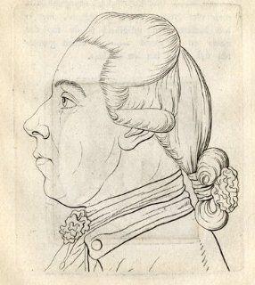Antique Print PORTRAIT MAN PROFILE P. 179 180 Lavater 1781   Etchings Prints