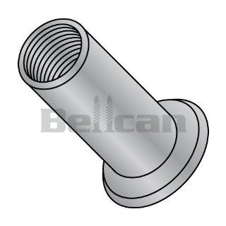 Bellcan BC XA 11180 Flat Head Threaded Insert Rivet Nut Aluminum Cleaned and Polished NON RIBBED #10 32 .180 (Box of 1000) Industrial & Scientific