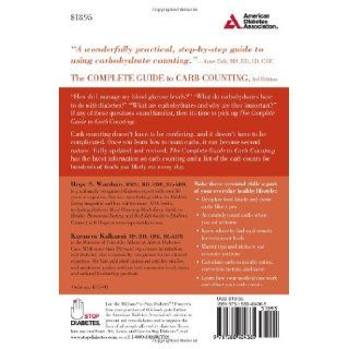 Complete Guide to Carb Counting How to Take the Mystery Out of Carb Counting and Improve Your Blood Glucose Control Hope S. Warshaw R.D., Karmeen Kulkarni M.S. 9781580404365 Books