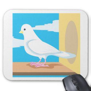 Dibujo animado de la paloma del personalizado alfombrillas de raton de