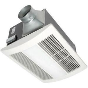 Panasonic WhisperWarm 110 CFM Ceiling Exhaust Bath Fan with Light and Heater FV 11VHL2