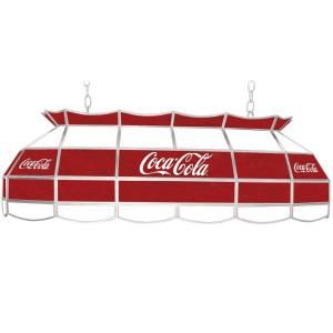 Trademark Global Coca Cola 3 Light Stained Glass Hanging Tiffany Lamp COKE 4000 CS2
