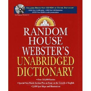 Random House Webster's Unabridged Dictionary and CD ROM Version 3.0 (9780375403835): Random House Inc.: Books