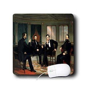 mp_107182_1 FabPeople   Presidents and Politics   Abraham Lincoln   The Peacemakers Painted in 1868   Mouse Pads: Computers & Accessories