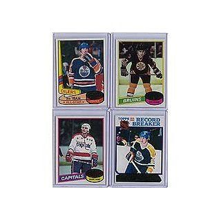 1980 / 1981 Topps Hockey Complete Near Mint to Mint Hand Collated 264 Card Set. Loaded with Stars Including Wayne Gretzky's 2nd Year Card and 5 Other Gretzkys, Mike Bossy, Guy Lafleur, Marcel Dionne, Denis Potvin and Others. Tons of Rookies Including R