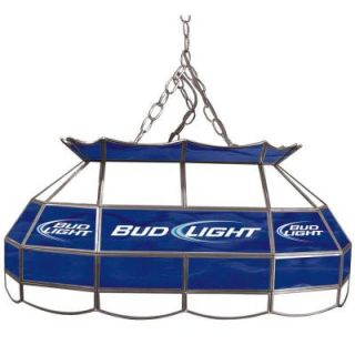 Trademark Global Bud Light 28 in.Stained Glass Pool Table Light AB2800 BL