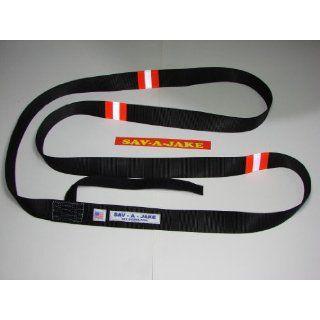 Sav A Jake Firefighter Gear Tools Hose Strap   Black w/3M Triple Orange Reflective Stripe (no carabiner) Science Lab Emergency Response Equipment Industrial & Scientific