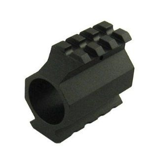 Ultimate Arms Gear Pro Series Anodized Aluminum Low Profile Deluxe Dual Weaver Picatinny Rail Slanted Top & Bottom Gas Block Mount For .936 Diameter Bull Barrel AR LR 308 .308 308 Rifle  Hunting And Shooting Equipment  Sports & Outdoors