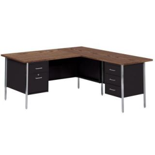 Sandusky 500 Series R Shaped Steel Desk RW4224 BW