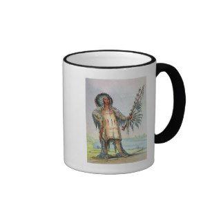 Mandan Indian Ha Na Tah Muah, Wolf chief Coffee Mugs