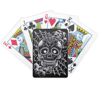 Sugar Skull Tattoo Flash Poker Deck