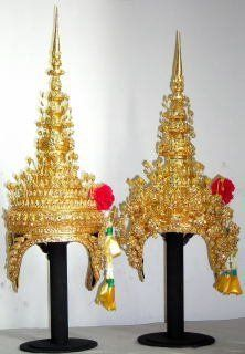 Thai Dance Head Dresses Man & Woman's Traditional Crown
