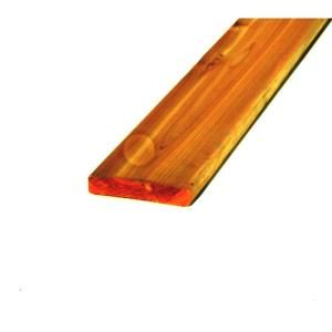 1 in. x 6 in. x 8 ft. #2 & BTR Wood Western Red Cedar Pre Stained Picket LSRBRCF21608