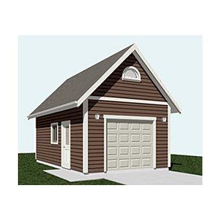 Garage plans two car garage with loft plan 856 1 for Garage plans with lift