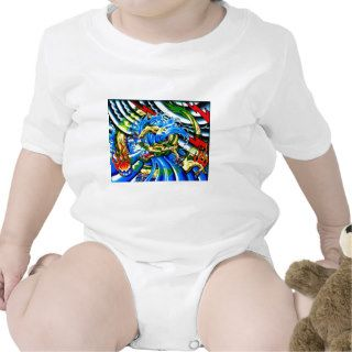 Neo Jap Dragon Tattoo Baby Bodysuit