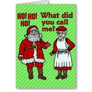 Funny Santa Claus & Mrs Christmas Card