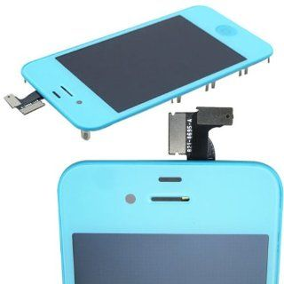 Lt Blue Front Touch Screen Digitizer +Lcd Display Assembly For Iphone4 CDMA: Cell Phones & Accessories